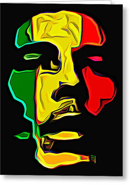 Byron Walker Greeting Cards - Bob Marley Greeting Card by  Fli Art