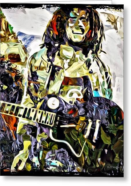 Acclaim Greeting Cards - Bob Marley Graffiti Portrait Greeting Card by Scott Wallace