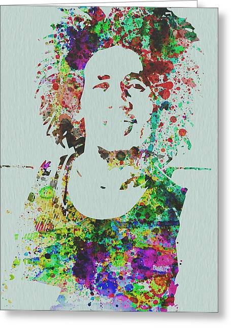 Celebrity Mixed Media Greeting Cards - Bob Marley Music Legend Greeting Card by Naxart Studio