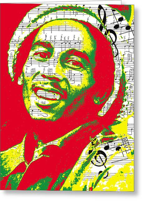 Brad Scott Greeting Cards - Bob Marley Musical Legend Greeting Card by Brad Scott