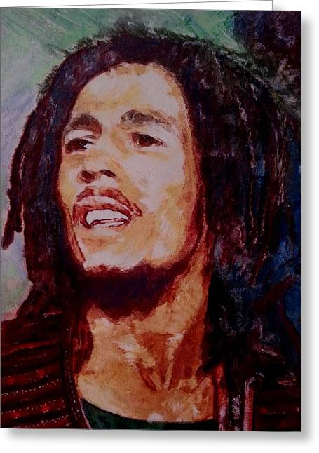 Souls Greeting Cards - Bob Marley Sing Greeting Card by Mandy Thomas