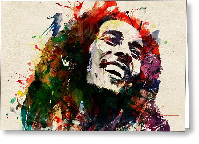 Happy Man Greeting Cards - Bob Marley The King of Reggae Greeting Card by Marian Voicu