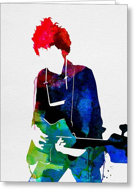 Bob Watercolor Greeting Card by Naxart Studio