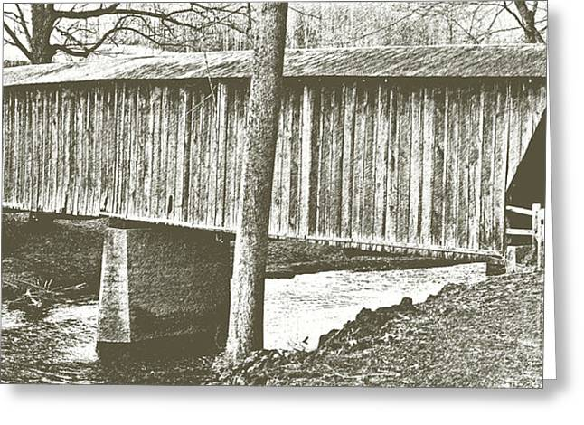 Bob White Covered Bridge Greeting Card by Eric Liller