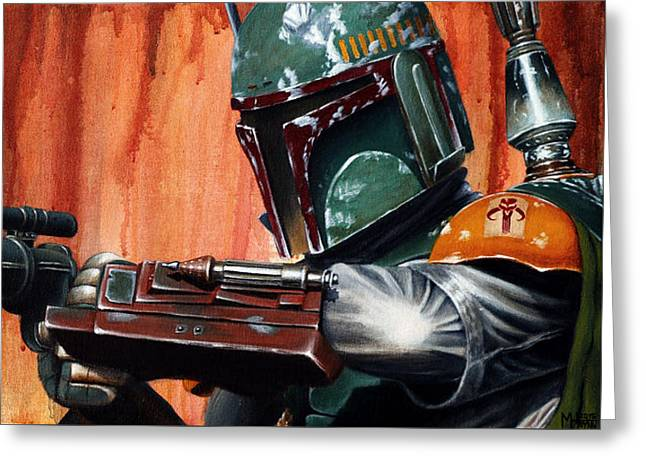 Boba Fett Greeting Card by Marlon Huynh