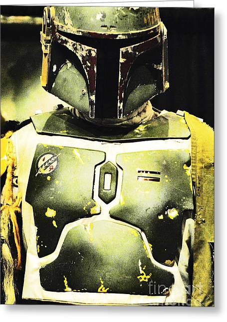 Jet Star Greeting Cards - Boba Fett Greeting Card by Micah May