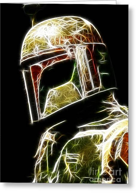 Boba Fett Greeting Card by Paul Ward