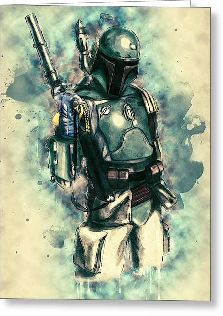 Boba Fett Greeting Card by Taylan Soyturk