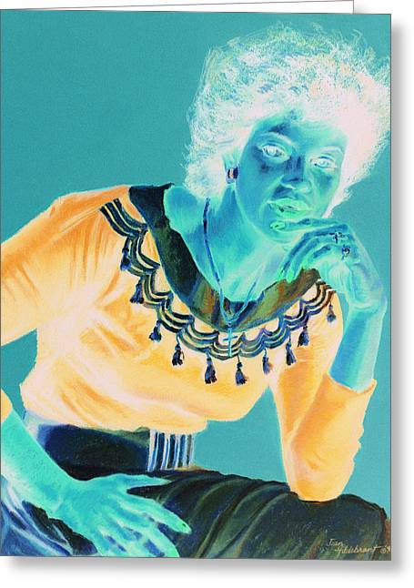 African-american Pastels Greeting Cards - Bobbi Greeting Card by Jean Hildebrant
