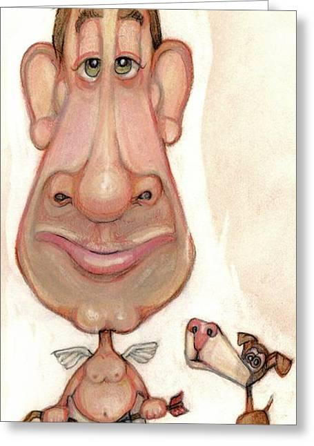 Bobblehead No 57 Greeting Card by Edward Ruth