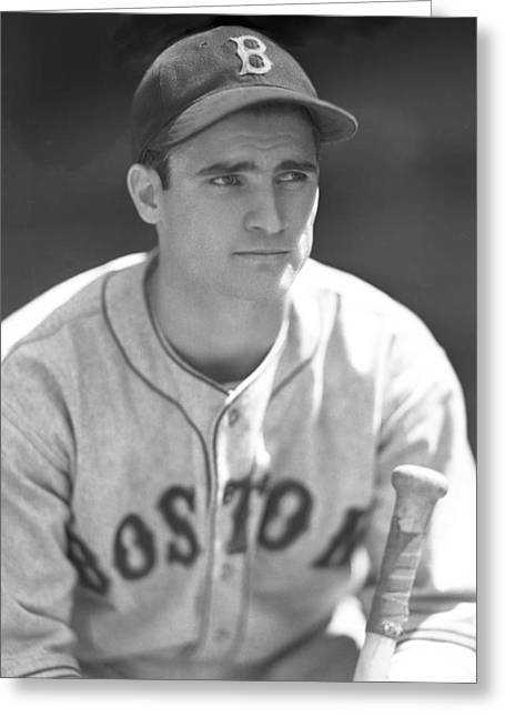 Bobby Doerr Greeting Cards - Bobby Doerr 1937 Rookie Greeting Card by OleTime Photos