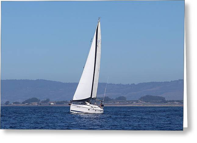 Sailboat Ocean Greeting Cards - Bobby McGee, Oct, 2014 Greeting Card by Larry  Daeumler