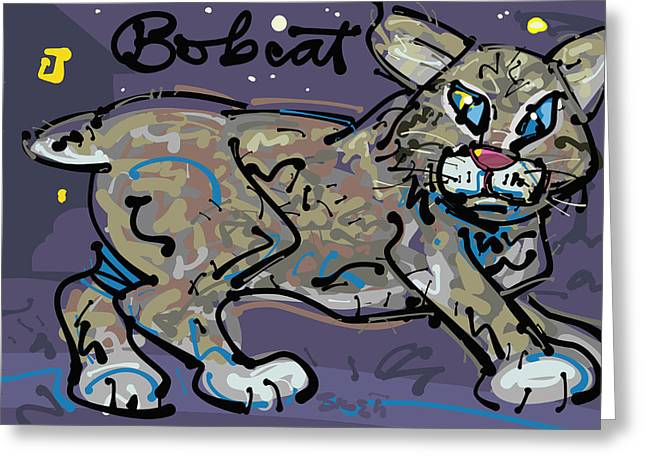 Bobcat Drawings Drawings Greeting Cards - Bobcat Greeting Card by Brett LaGue