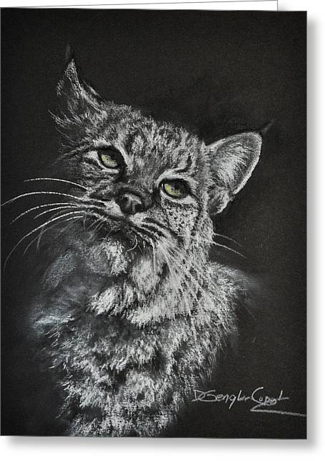 Bobcat Pastels Greeting Cards - Bobcat Greeting Card by Deb Gengler