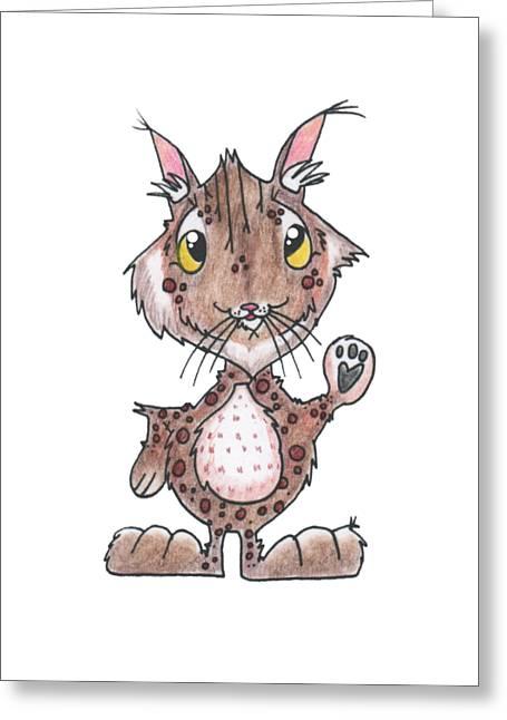 Bobcats Greeting Cards - Bobcat Friend Greeting Card by Rachel Huddleston