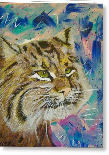 Bobcats Greeting Cards - Bobcat Greeting Card by Jill Swartz