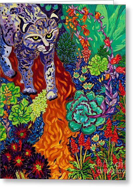 Bobcats Greeting Cards - Bobcat Kachina  Greeting Card by Cathy Carey
