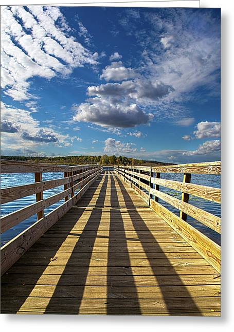 Wisconsin Fishing Greeting Cards - Bobs Pier Greeting Card by Phil Koch
