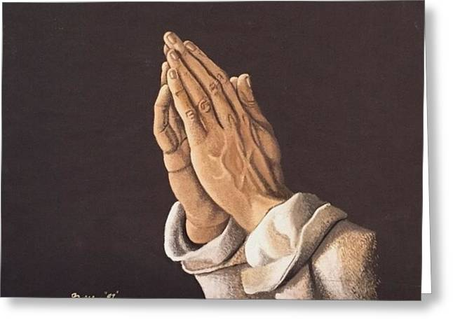 Praying Hands Greeting Cards - Bobs Vermeer Greeting Card by Robert Byers