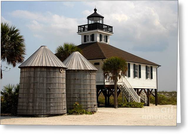 Boca Grande Greeting Cards - Boca Grande Lighthouse Greeting Card by David Lee Thompson