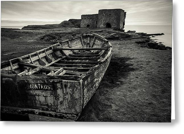 Boddin Point Wreck Greeting Card by Dave Bowman