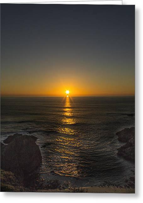 San Francisco Bay Greeting Cards - Bodega Bay Sunset Greeting Card by Shawn McMillan