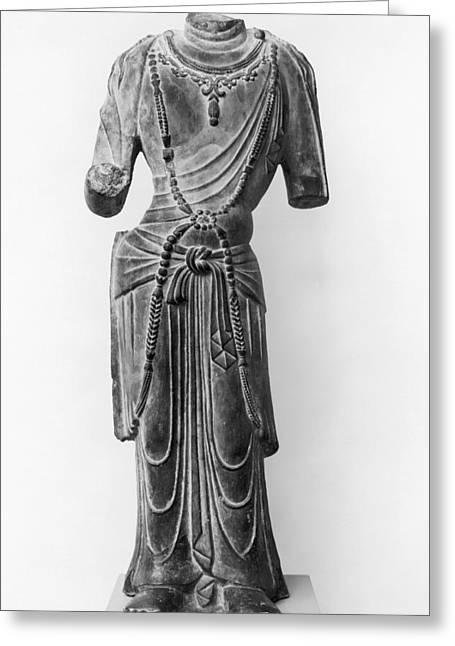 8th Century Greeting Cards - BODHISATTVA, 8th CENTURY Greeting Card by Granger