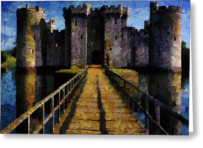 Bodiam Castle Greeting Card by Mario Carini