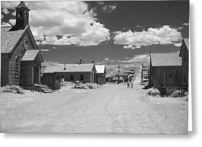 Main Street Greeting Cards - Bodie A Ghost Town Infrared  Greeting Card by Christine Till