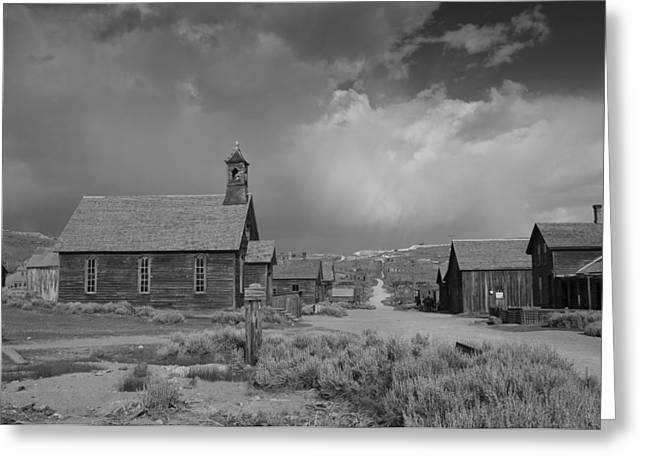 Main Street Greeting Cards - Bodie Greeting Card by Christian Heeb