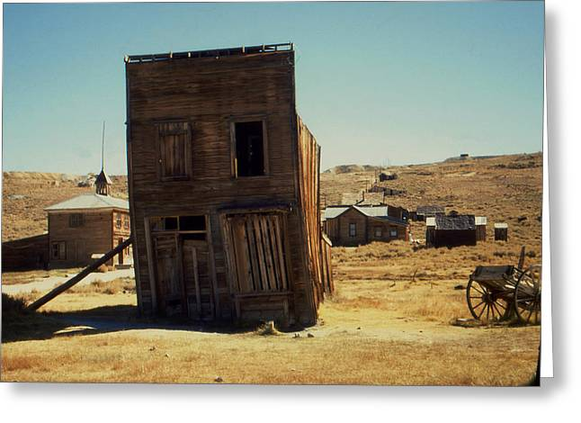 Old Western Photos Greeting Cards - Bodie Ghost Town California - Color Photo Greeting Card by Peter Fine Art Gallery  - Paintings Photos Digital Art