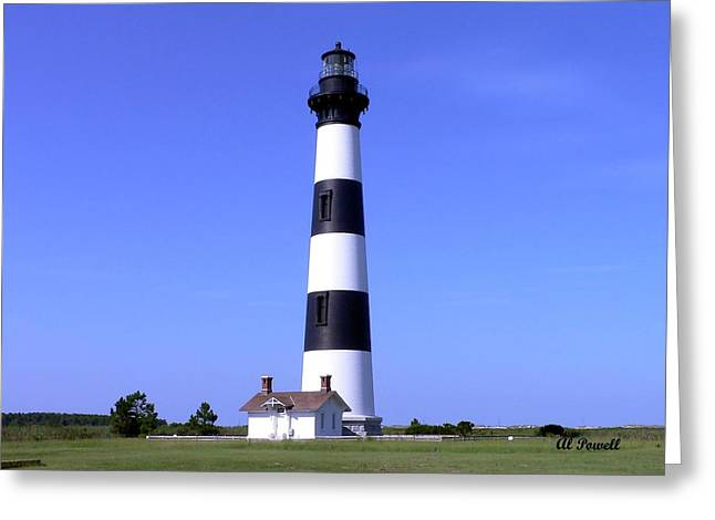 N.c. Greeting Cards - Bodie Island Light Greeting Card by Al Powell Photography USA