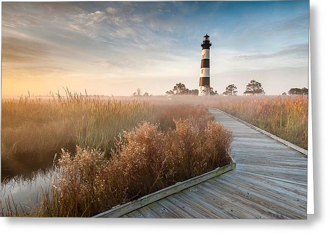 Cape Hatteras Lighthouse Greeting Cards - Bodie Island Lighthouse Cape Hatteras National Seashore North Carolina Greeting Card by Mark VanDyke