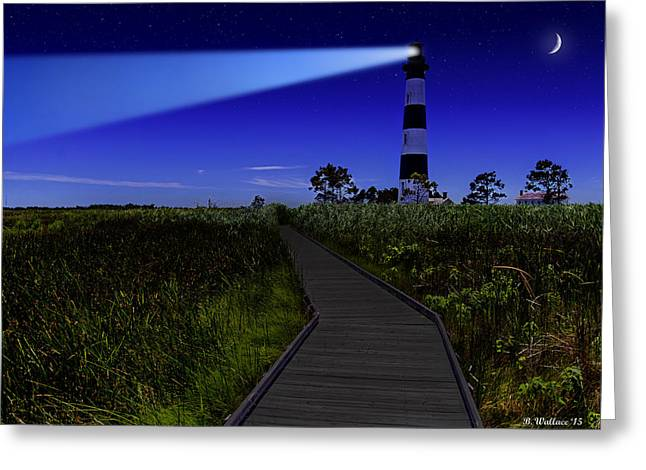 Enhanced Greeting Cards - Bodie Island Lighthouse - Color Greeting Card by Brian Wallace