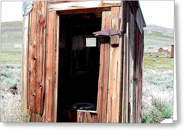 Bodie Outhouse 2 Greeting Card by Lydia Warner Miller