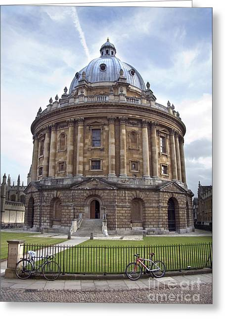 Great Cities Universities Greeting Cards - Bodlien Library Radcliffe Camera Greeting Card by Jane Rix