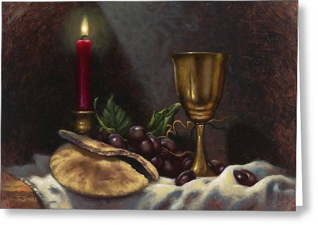 Blessed Greeting Cards - Body and Blood Greeting Card by Timothy Jones