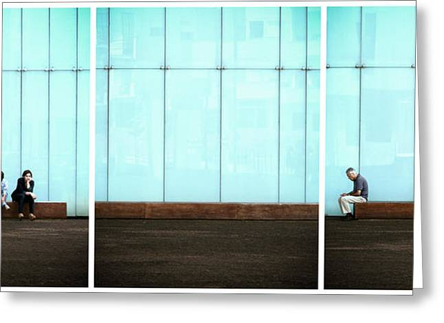 Wall Street Greeting Cards - Body Language Greeting Card by Paulo Abrantes