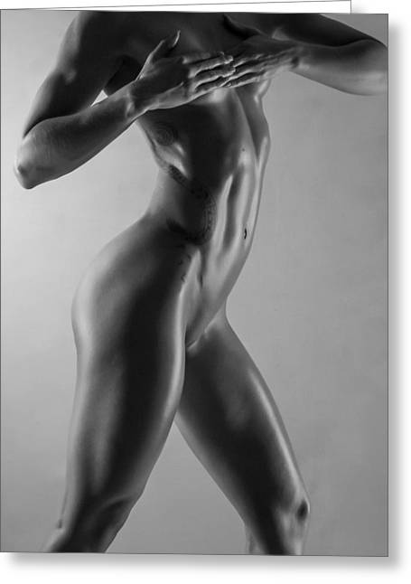 Tasteful Photographs Greeting Cards - Body of Art 6 Greeting Card by Blue Muse Fine Art