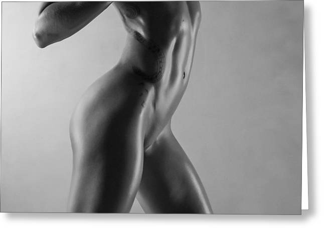 Body Of Art 6 Greeting Card by Blue Muse Fine Art