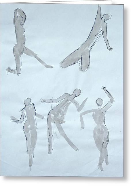 Body Sketches Greeting Card by M Valeriano