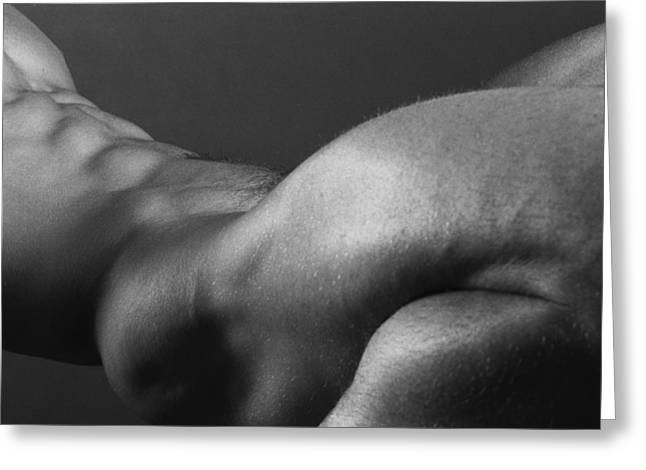 Figure Study Greeting Cards - Bodyscape Greeting Card by Thomas Mitchell