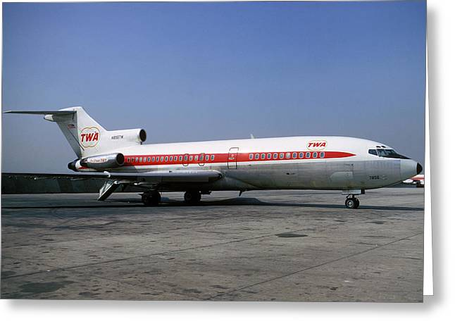 Boeing 727-031 Trans World Airlines Twa N856tw Greeting Card by Wernher Krutein