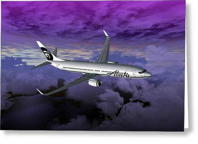 Boeing 737 NG 001 Greeting Card by Mike Ray