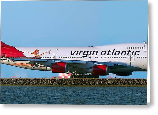 Boeing 747-4q8 Virgin Atlantic Lady Penelope At Sfo Greeting Card by Wernher Krutein