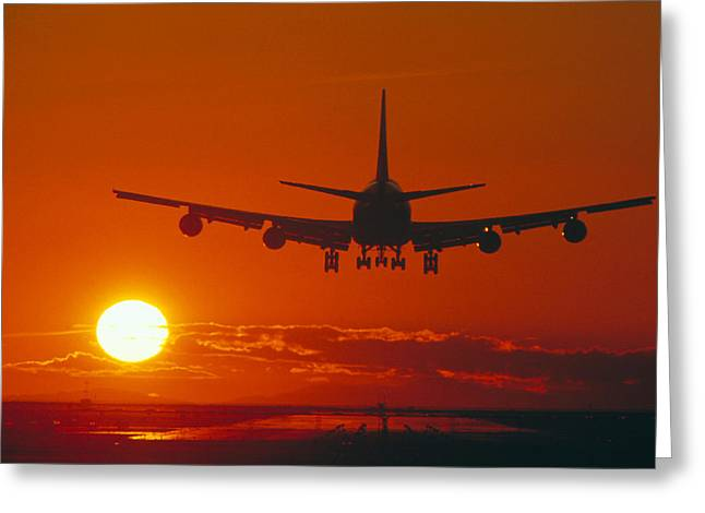 747 Greeting Cards - Boeing 747 Greeting Card by David Nunuk