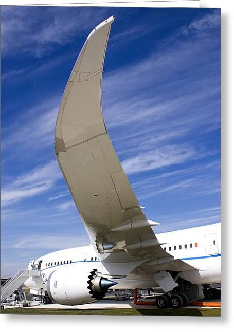 Boeing 787 Dreamliner At Farnborough Greeting Card by Mark Williamson