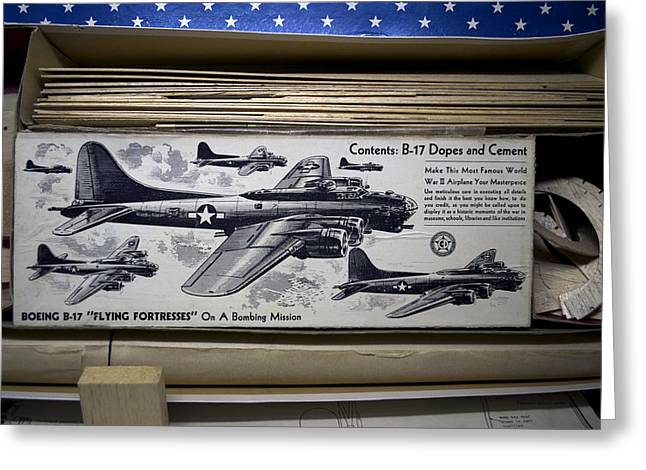 Boeing B 17 Flying Fortresses Build Kit Greeting Card by Thomas Woolworth