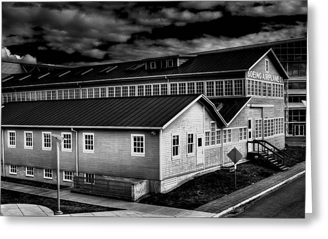 Manufacturing Greeting Cards - Boeings Red Barn Greeting Card by David Patterson