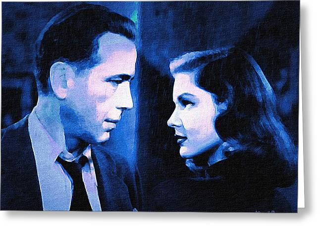 Bogart And Bacall - The Big Sleep Greeting Card by Alicia Hollinger